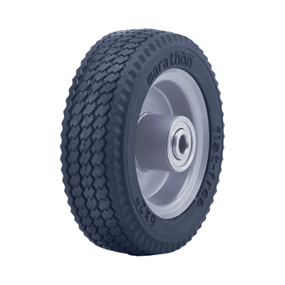 """Marathon Tires Flat-Free Hand Truck Tire - 1/2in. Bore, 6in. x 2in., Sawtooth"""