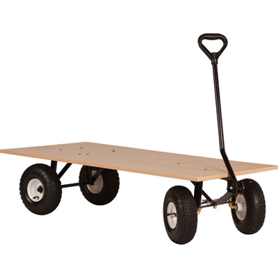 Farm-Tuff Flatbed Garden Wagon — 1,000-Lb. Capacity, 48in.L x 24in.W, Model# FRW