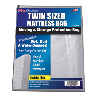 """American Moving Supplies ProSeries Mattress Bag - Twin size bed, Model# PI1300"""