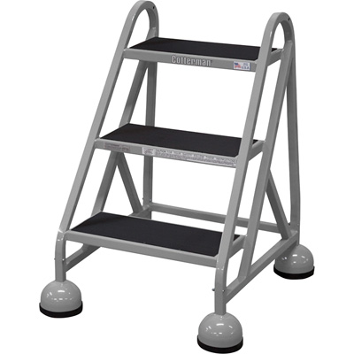 """Cotterman Steel (Step) Ladder - 27in. Max. Height, Model# D0840026-01-001"""