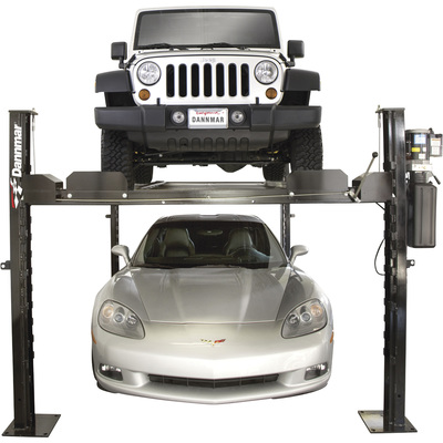 FREE SHIPPING — Dannmar Complete Kit 4-Post Wide Car Lift — 7000-Lb. Capacity, Model# D-7/X KIT