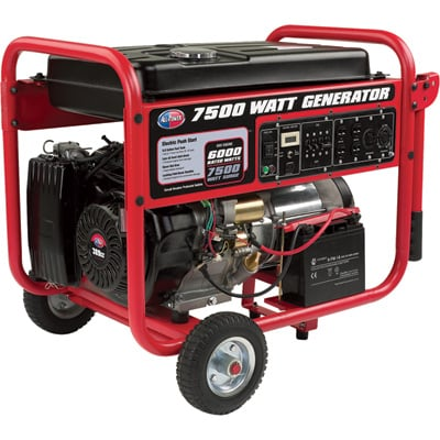 All Power Generator - 7500 Watts, Electric Start, Model# APGG-7500