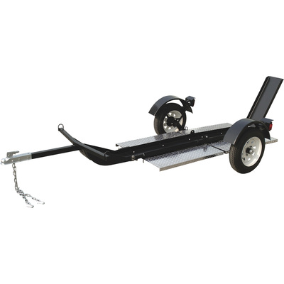 FREE SHIPPING — Ultra-Tow Single-Rail Folding Motorcycle Trailer — 700-Lb. Load Capacity