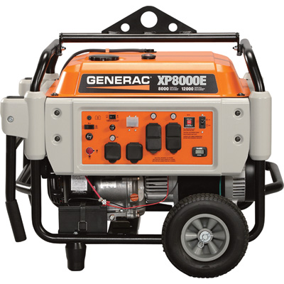 """FREE SHIPPING - Generac XP8000E Portable Generator - 10,000 Surge Watts, 8000 Rated Watts, Electric Start, Model# 5931"""