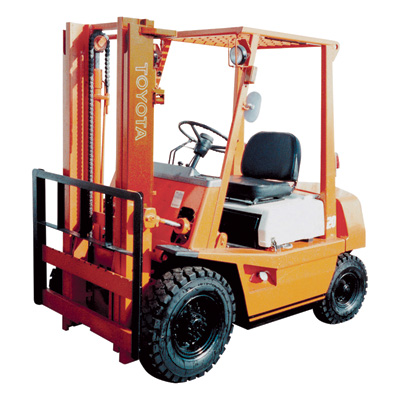FREE SHIPPING — MITSUBISHI Reconditioned Forklift — 2 Stage, 6,000-lb. Capacity, 1997-2003, Model# MITSUBISHI FG30K1997-2003