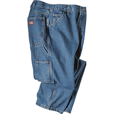 Dickies Men's 14-Oz. Denim Carpenter Jeans - Stonewashed Indigo, 32in. x 34in., Model# 1993SNB