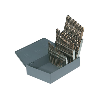 FREE SHIPPING Cobalt Drill Bits - 1/16in. Dia. to 1/2in. Dia., 29-Pc. Set