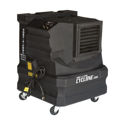 """Portacool Cyclone 2000 Evaporative Cooler - 2000 CFM, 10-Gallon Capacity, Black, Model# PACCYC02"""