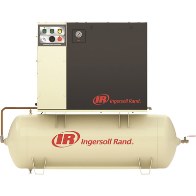 """FREE SHIPPING - Ingersoll Rand Rotary Screw Compressor w/Total Air System - 230 Volts, 3-Phase, 7.5 HP, 28 CFM, Model# UP6-7.5TAS-125"""