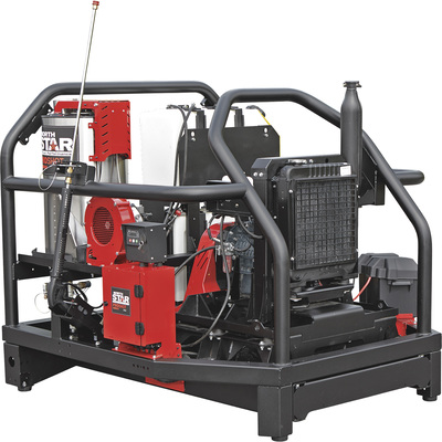 FREE SHIPPING — NorthStar ProShot Hot Water Commercial Pressure Washer Skid — 4000 PSI, 5.5 GPM, Kubota Diesel Engine