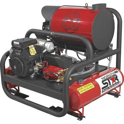 FREE SHIPPING — NorthStar Hot Water Commercial Pressure Washer Skid with 2 Wands — 4,000 PSI, 7.0 GPM, Kohler Engine