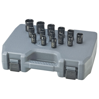 """Ingersoll Rand Impact Sockets - 1/2in.-Drive, 14-Pc. Metric Set, Model# SK4M14"""
