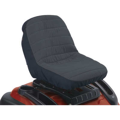 Classic Accessories Deluxe Riding Lawn Mower Seat Cover — Medium, Fits 14in.–16 1/2in.H backrests, Model# 12324