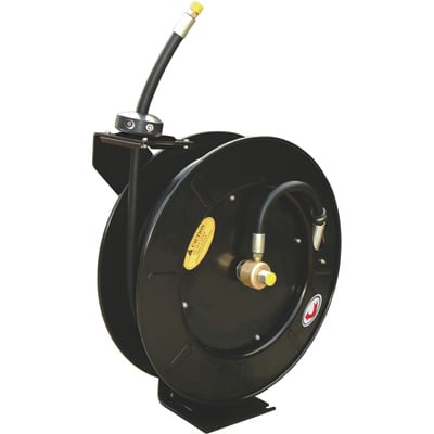ReelWorks Retractable Grease Hose Reel — 3/8in. x 50ft. Hose, 4000 PSI