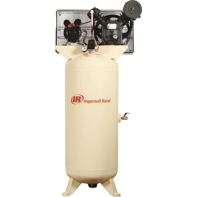 """FREE SHIPPING - Ingersoll Rand Type-30 Reciprocating Air Compressor - 5 HP, 230 Volt 1 Phase, Model# 2340L5-V"""
