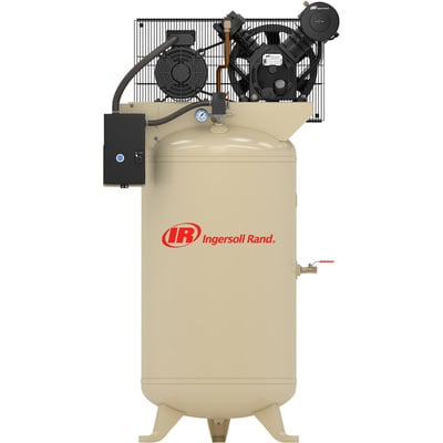 FREE SHIPPING — Ingersoll Rand Type-30 Reciprocating Air Compressor — 5 HP, 80 Gallon, 230 Volt 3 Phase, Model# 2340N5-V