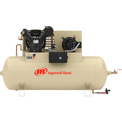 FREE SHIPPING — Ingersoll Rand Type-30 Reciprocating Air Compressor (Fully Packaged) — 10 HP, 200 Volt, 3 Phase, Model# 2545E10-VP