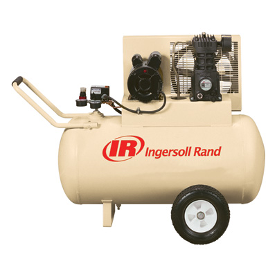 FREE SHIPPING — Ingersoll Rand Portable Electric Air Compressor — 2 HP, 30-Gallon Horizontal, 5.7 CFM, Model# SS3F2GM