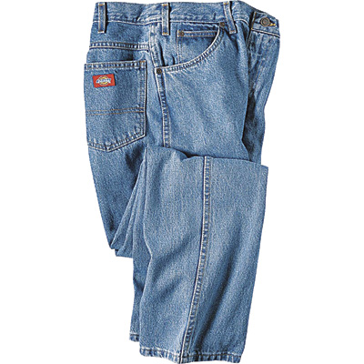 Dickies Men's 14-Oz. Denim Relaxed Fit Jeans - Stonewashed Indigo, 40in. x 30in., Model# 13293SNB