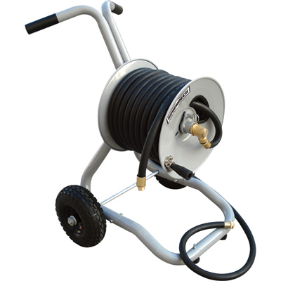 Roughneck Garden Hose Reel with Cart - Holds 150ft. x 5/8in. Hose