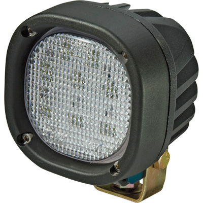 """DMK 9-32 Volt LED Worklight - Clear, Square, 4 1/4in. x 4 1/4in. , 1,800 Lumens, Model #CLD1311"""