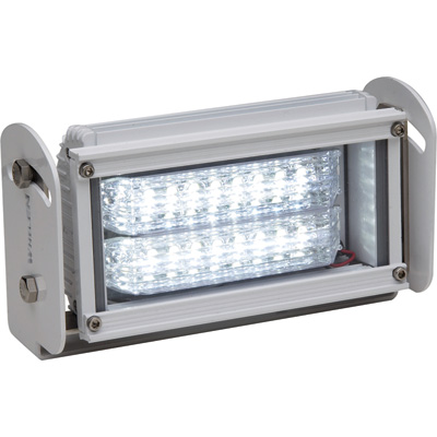 """Whelen Pioneer-Series 12 Volt LED Floodlight - Clear, Rectangle, 5 3/8in. x 8 3/4in. , 2500 Lumens, Model# PFA1BAIL"""