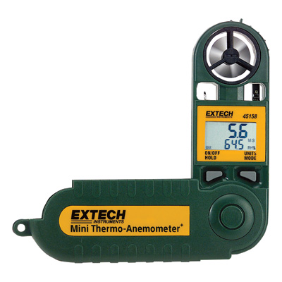 """Extech Mini Thermo-Anemometer + Humidity Meter, Model# 45158"""