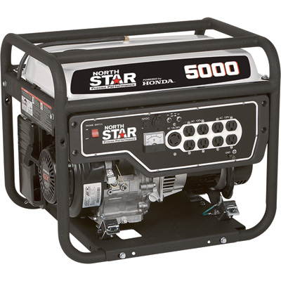 """NorthStar Portable Generator - 5000 Surge Watts, 4000 Rated Watts, Model# 165610"""