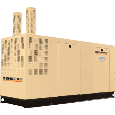 FREE SHIPPING — Generac Commercial Series Liquid-Cooled Standby Generator — 100 kW, 120/240 Volts, NG, Model# QT10068ANSY
