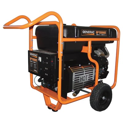 """FREE SHIPPING - Generac GP15000E Portable Generator - 22,500 Surge Watts, 15,000 Rated Watts, Electric Start, Model# 5734"""