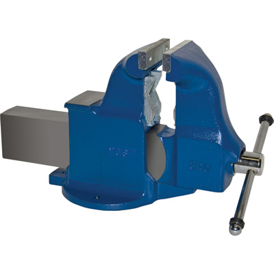 """Yost Heavy-Duty Industrial Combination Bench Vise - Stationary Base, 6in. Jaw Width, Model# 134C"""