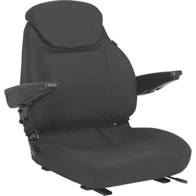 Black Talon Cordura Tractor Seat with Adjustable Lumbar Support — Black, Model# 440