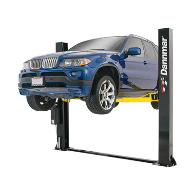 FREE SHIPPING — Dannmar 2-Post Low Ceiling Wide Floorplate Truck and Car Lift — 9000-Lb. Capacity, Model# Admiral 9000X