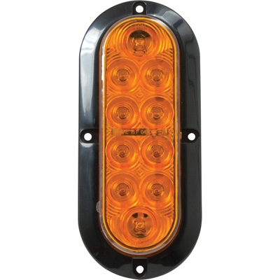 Blazer LED 6in. Oval Park and Turn Light — 6 7/16in., Amber, Model# C562ATM