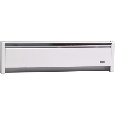 Cadet Softheat Hydronic Baseboard Heater — 1,000 Watt, 59in.W, 240 Volt, White, Model# EBHN1000W