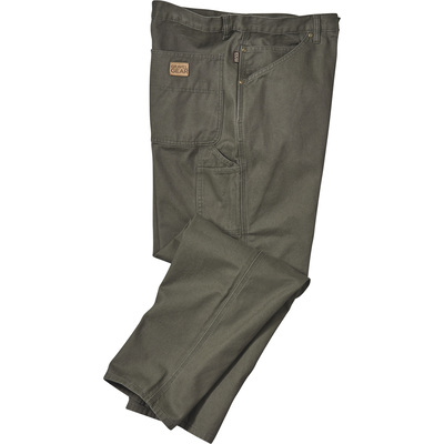 Gravel Gear Men's Heavy-Duty Carpenter-Style Work Pants - Moss, 48in. Waist x 30in. Inseam