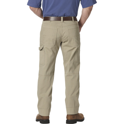 FREE SHIPPING Gravel Gear Men's Ripstop Carpenter Pant with Teflon - Khaki, 34in. Waist x 34in. Inseam