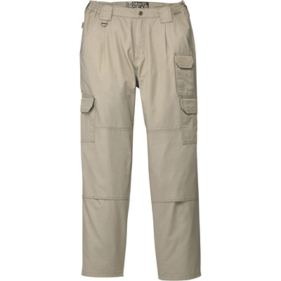 FREE SHIPPING - Gravel Gear Men's 7-Pocket Tactical Pants with Teflon - Khaki, 36in. Waist x 32in. Inseam