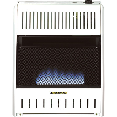 """ProCom Blue Flame Wall Heater - 20,000 BTU Output, 700 Sq. Ft. Heating Capacity, Model# MD200TBA"""