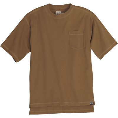 FREE SHIPPING — Gravel Gear Men's Warrior Stain-Resistant Pocket T-Shirt with Teflon Fabric Protector — Khaki, Medium