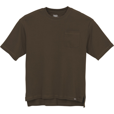 FREE SHIPPING - Gravel Gear Men's Warrior Stain-Resistant Pocket T-Shirt with Teflon - Olive, 3XL