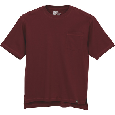 Gravel Gear Men's Warrior Stain-Resistant Pocket T-Shirt with Teflon - Wine, 3XL