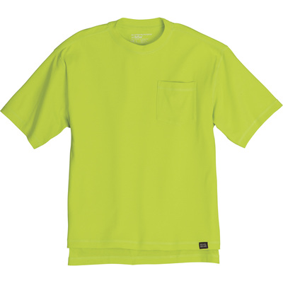 FREE SHIPPING - Gravel Gear Men's Warrior Stain-Resistant Pocket T-Shirt with Teflon - Lime, 3XL