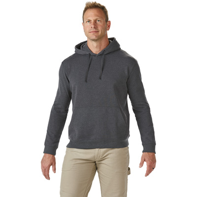 FREE SHIPPING - Gravel Gear Men's Moisture-Wicking Hooded Sweatshirt with Teflon -Charcoal, Medium