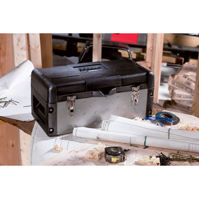 Stack-On Heavy-Duty Steel/Plastic Tool Box