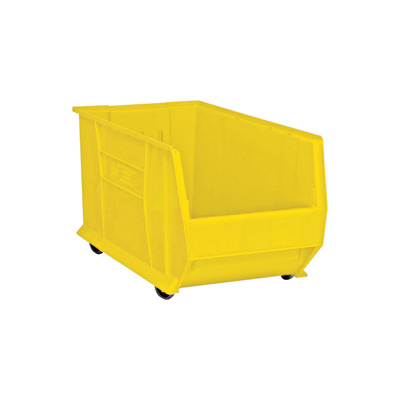 Quantum Storage 30in. Mobile Hulk Container — 29 7/8in.L x 16 1/2in.W x 18in.H Bin, Yellow