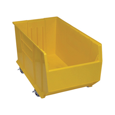 Quantum Storage 36in. Mobile Hulk Container — 35 7/8in.L x 19 7/8in.W x 18in.H Bin, Yellow
