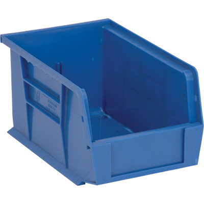 Quantum Storage Heavy-Duty Ultra Stacking Bins — 9 1/4in. x 6in. x 5in. Size, Blue, Carton of 12