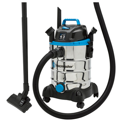 Vacmaster Stainless Steel Wet/Dry Vacuum — 3 HP, 6-Gallon Tank, Model# VQ607SFD