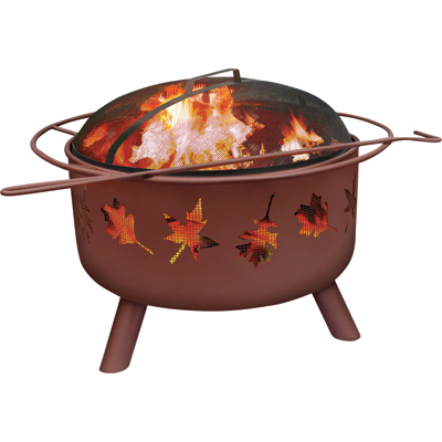 Landmann Fire Pit with Accessories — Big Sky Tree Leaves, Model# 28673